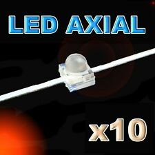 368/10#LED axial 1,8mm rouge 10pcs - red LED