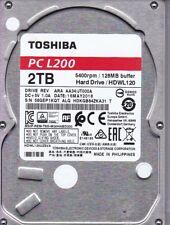 Toshiba HDWL120 HDWL120UZSVA rev: ARA AA34/JT000A HDKGB84ZKA31 T 2TB SATA 5701