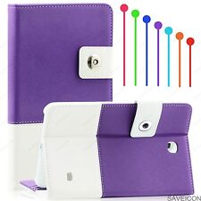 """For Samsung Galaxy Tab 4 7 7"""" Tablet Folio Hybrid Case Cover Stand SMT230 Purple"""