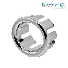 KNOPPO® SET 3 x Waschbecken Überlaufblende / Überlauf Abdeckung - Ring (chrom)