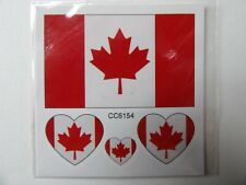 CANADA FLAG TEMPORARY TATTOOS (BRAND NEW) 60mm X 60mm