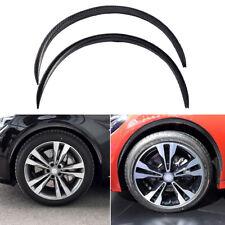 2PCS Car Carbon Fiber Arch Eyebrow Wheel Trim Wheel Strip Protector Universal