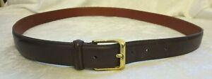 """Coach leather belt dark  brown 44"""" brass buckle 5950"""