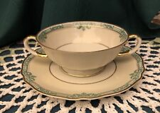 Franconia Krautheim Footed-Cream Bowl & Plate Pattern Manon