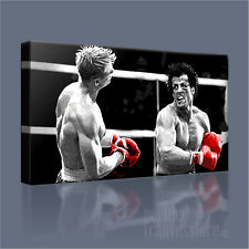 ROCKY BALBOA vs IVAN DRAGO SUPERB ICONIC CANVAS ART PRINT PICTURE Art Williams