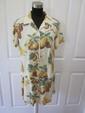 Vtg Tori Richards Banana Pineapple Pear Print 2 Pc Shirt & Shorts Outfit Sz L