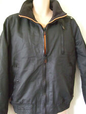 NEW £115 SUPERDRY LARGE BLACK MOODY NORSE BOMBER JACKET