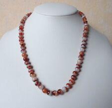 """Edelsteinkette Rot Achat Collier 6,5 - 7 mm Perlen  45cm Halskette """" True Gems """""""