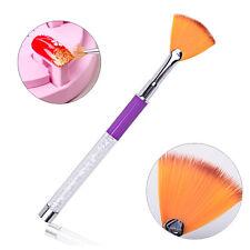 Fiber Fur Fan-shaped Brush Pen Gradient Dizzy Dye Rhinestone Handle Tools