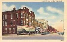 Bay City Michigan East Midland Street Scene Antique Postcard K50956