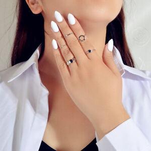 5 pcs Minimalist Jewellery Gold Silver Metal Geometric Midi Finger Knuckle Ring