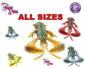 NIMBLE CRAZY FISH  Soft Plastic Lure Bait Crayfish Jig Head Drop Shot Fishing UK
