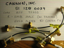5 Cables,male reverse SMB to male reverse SMB,rt.angles,Cannon 51 128 0039,92663