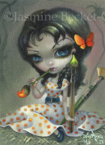 Painting Pixie ACEO Epcot Jasmine Becket-Griffith art big eyes fairy Strangeling