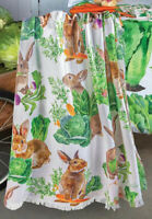 """THROWS -  """"BUNNIES IN THE CABBAGE PATCH"""" THROW BLANKET - 50"""" X 60"""" - BUNNY"""
