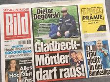 Bildzeitung vom 20.05.2017 * Geschenk zur Geburt * Geburtstag * Dieter Degowski