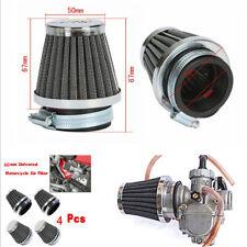 4x 60mm Motorcycle Bike Air Filter Pod For Honda Suzuki Cafe Racer ATV Universal