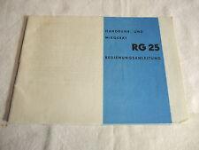 alte DDR Werbung Reklame Bedienungsanleitung AKA ELECTRIC Handmixer Mixer RG 25