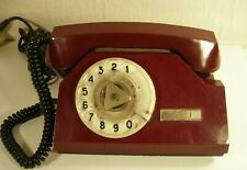 SALE Vintage Rotary Telephone Cherry Red  phone Soviet Vintage USSR  Industrial Office supply movie requisite Steampunk