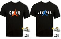 DBZ Goku Vegeta Funny T shirt Air Jordan Dragon Ball Z Parody Anime Men's Top