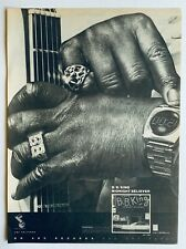 BB KING vintage 1978 POSTER ADVERT MIDNIGHT BELIEVER