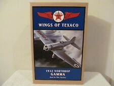"ERTL WINGS OF TEXACO AIRPLANE ""BANK"" 1932 NORTHROP GAMMA 2ND IN SERIES NIB"
