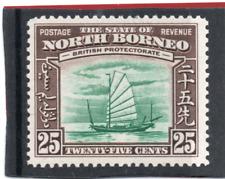 Borneo del Norte GV1 1939 25c verde y Menta Chocolate SG 313 H.