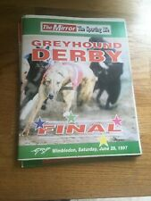 Greyhound Derby Final Race Card Programme 1997 Excellent Unmarked Condition