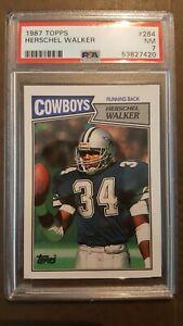 1987 Topps Football #264 Herschel Walker Rookie card PSA 7 NM! Dallas Cowboys!