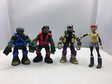 LOT Playmates Toys Teenage Mutant Ninja Turtles Action Figures Leo Raph TMNT