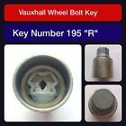 Original Vauxhall Tornillo de fijación de la rueda / Llave para Tuerca 195R