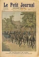 Président Félix Faure Grand-Prix de Paris Hippodrome Vincennes 1895 ILLUSTRATION