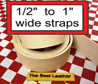 """1/2"""" to 1"""" Vegetable Tanned Tooling Leather Belt Blanks, Straps, Select Size"""