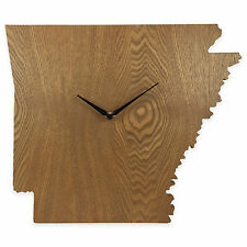 Arkansas State Shaped Wood Grain Wall Clock Collection