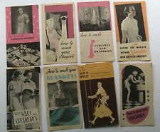 "Ivory Snow Flakes 8 Piece Brochure Lot On ""How To Wash""...."