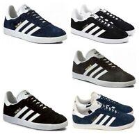 Adidas Originals Gazelle Mens Trainers Casual Black Navy Grey UK Size