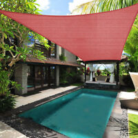 10' 12' 16' Rectangle/Triangle Sun Shade Sail UV Block Patio Top Canopy Cover