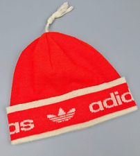 Vintage Rare Retro 70s 80s Adidas Orlon Red Beanie Hat Made in West Germany VGC