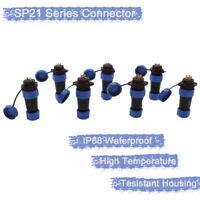 SP13/21 Series IP68 Waterproof Plug Socket Connectors Industrial Cable