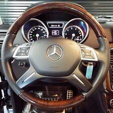 Mercedes-Benz OEM W166 G ML W463 Black Leather & Burr Walnut Wood Steering Wheel