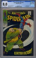 AMAZING SPIDER-MAN #60 CGC 8.0 AD FOR IRON MAN AND SUB-MARINER #1 KINGPIN COVER