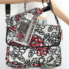 Coach Set Kyra Flower Graffiti Shoulder Bag Crossbody Wallet Umbrella 16915 RARE