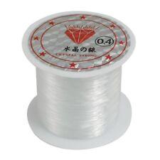 34Lbs 0.4mm Durchmesser Perlen Faden klar Nylon Fisch Angelschnur Spule M1Y2