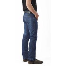 Pantaloni blu marca Draggin per motociclista