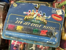 NIP Power Rangers ZEO MINI JET CYCLE PLAYSET Jakks Red Green Blue Pink Yellow