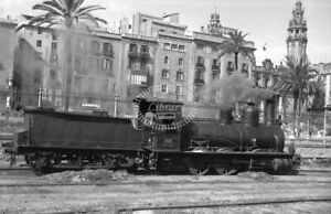 PHOTO RENFE Spanish Railways Steam Locomotive Class 030 030 2597 Barcelona 1957