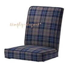 "IKEA HENRIKSDAL Slipcover Chair Cover 21"" Rutna Multicolor Check Plaid Slipcover"