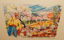 """GEORGES CYR """"LIFE IN THE FIELD"""" OFFSET CATHOLIC PRESS BEIRUT LITHOGRAPH"""