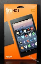 """Fire HD 8 Tablet with Alexa, 8"""" HD Display, 16 GB, Black w/Special Offers @NEW@"""