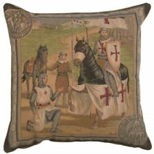 Set of 2 Templar's I French Tapestry Cushion Pillow Covers 19 x 19